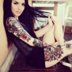 Fotos tatuagem no braço inteiro feminina