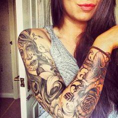 Fotos tatuagem no braco inteiro feminina 6