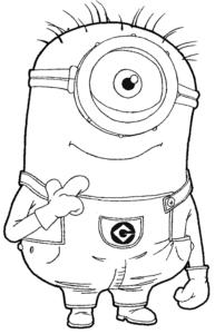 Imagens para colorir desenho dos minions 6