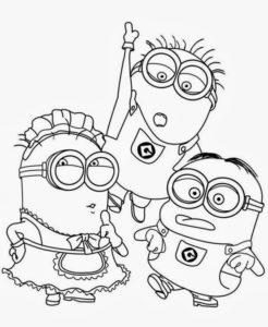 Imagens para colorir desenho dos minions 7