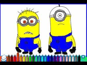 Imagens para colorir desenho dos minions 2