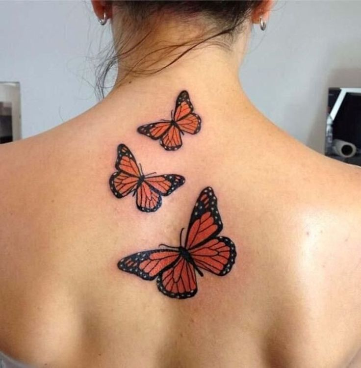 Fotos de Tatuagem Borboleta Nas Costas
