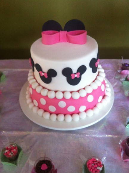 Fotos bolo decorado da minnie rosa