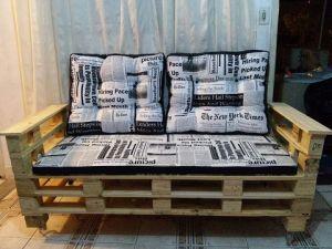 cadeira de palete de madeira