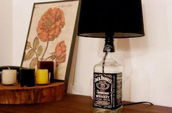 abajur garrafa de vidro
